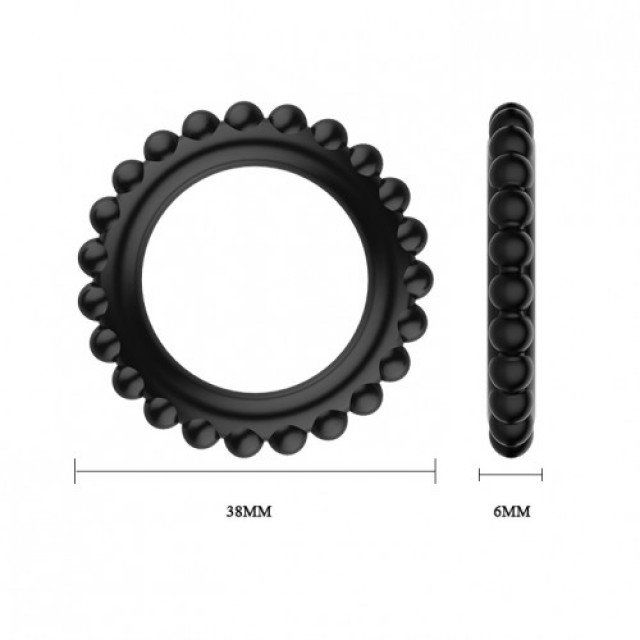 Эрекционных колец набор Baile Ring Titan, Силиконовое, Черное