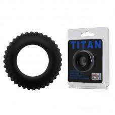 Эрекционное кольцо Baile Titan, Силиконовое, Черное, 3,5см