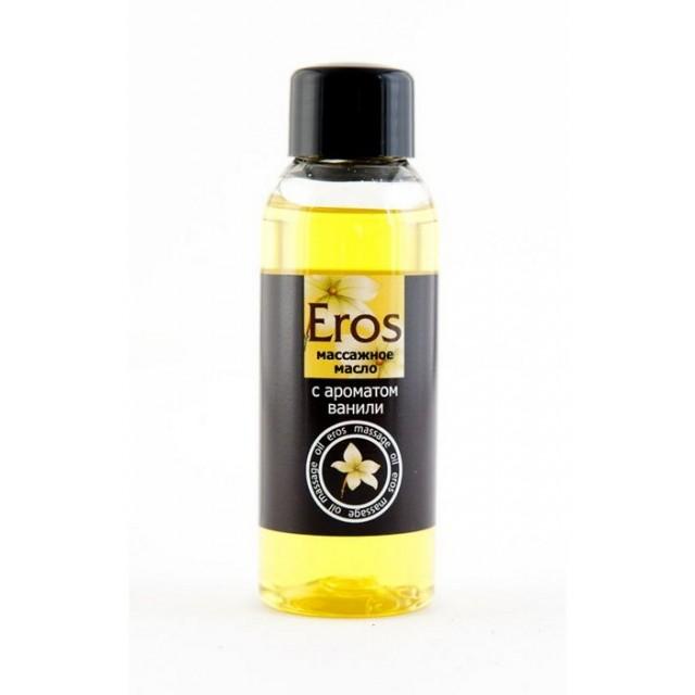 Масло съедобное массажное EROS c ароматом ванили, 50мл