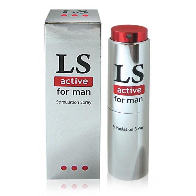 Спрей возбуждающий LOVESPRAY ACTIVE для мужчин, 18гр