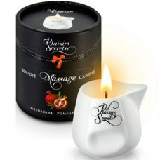 Массажная свеча Plaisirs Secrets «Pomegranate», с ароматом спелого граната, 80мл