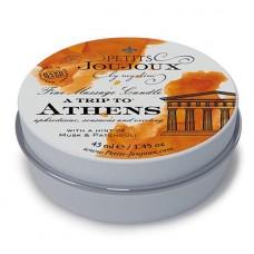 "Массажная свеча Petits Joujoux ""A Trip to Athens"" с запахом мускуса и пачули, 43мл"