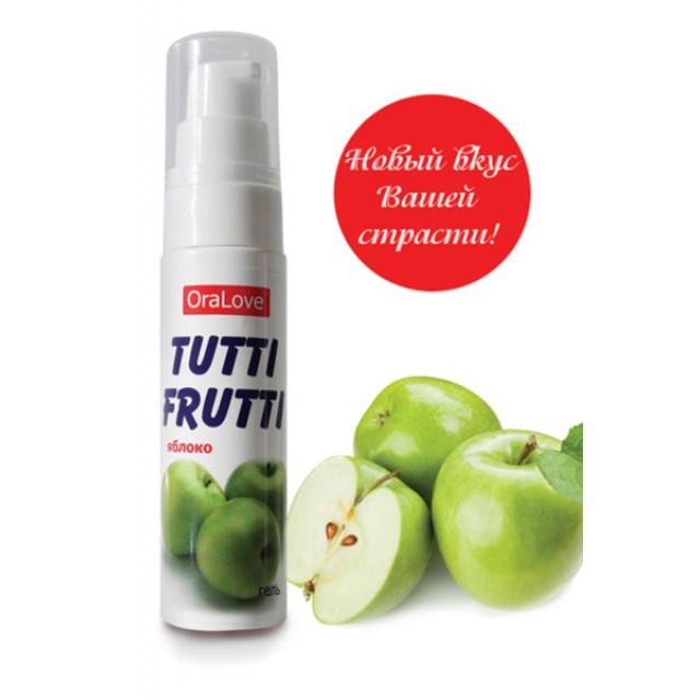 Гель-смазка съедобная TUTTI-FRUTTI со вкусом яблока, 30г