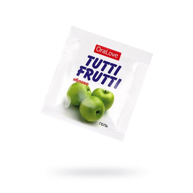 Гель-смазка съедобная TUTTI-FRUTTI со вкусом Яблока, ПРОБНИК