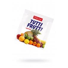 Гель-смазка съедобная TUTTI-FRUTTI со вкусом Экзотических фруктов, ПРОБНИК