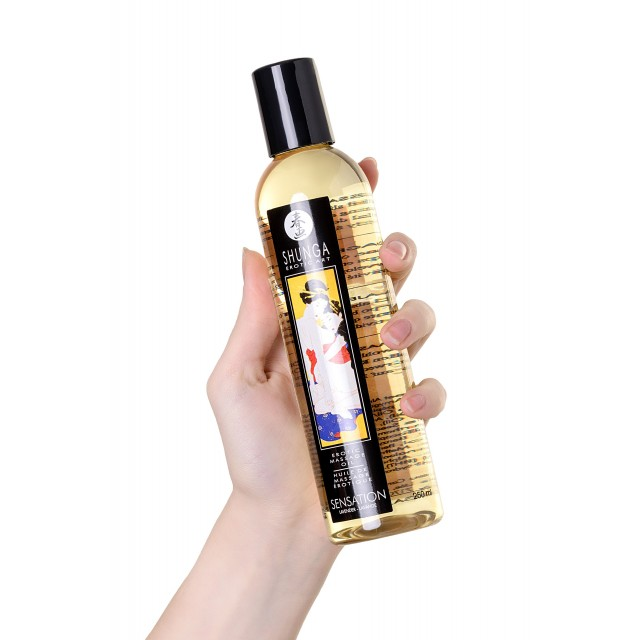 Масло для массажа Shunga Sensation, возбуждающее, аромат лаванды, 250мл