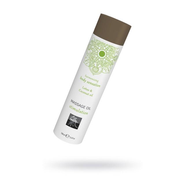 Массажное масло Stimulation, лотос и кокосовое масло, 100мл