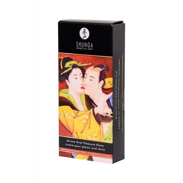 Блеск для губ Shunga «Божественное удовольствие», Клубника-Шампанское