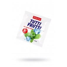 Гель-смазка съедобная TUTTI-FRUTTI со вкусом Сладкой мяты, ПРОБНИК