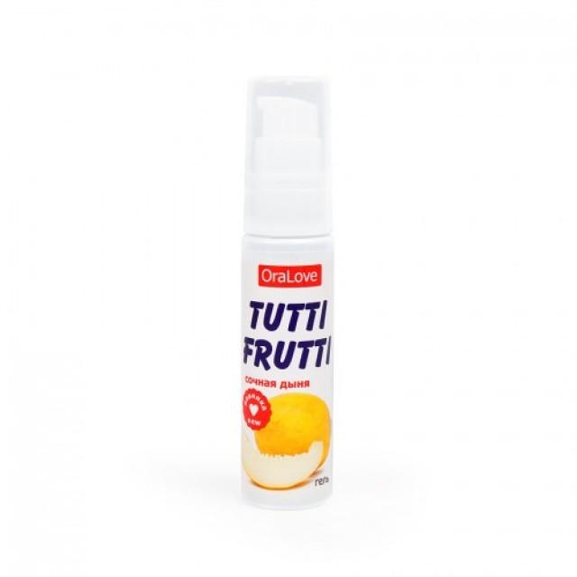 Гель-смазка съедобная TUTTI-FRUTTI со вкусом Сочной дыни, 30г