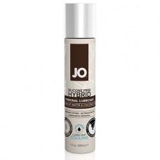 Гибридный лубрикант с кокосовым маслом JO Hybrid - Cooling, 30мл