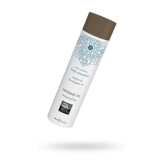 Массажное масло HOT Masculine - Амбра и масло эвкалипта, 100мл