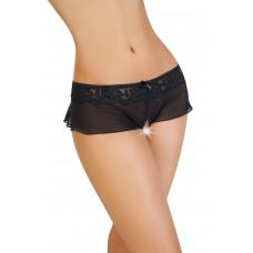 Трусики-юбочка с доступом из стрейч-сетки Erolanta Lingerie Collection, Черные