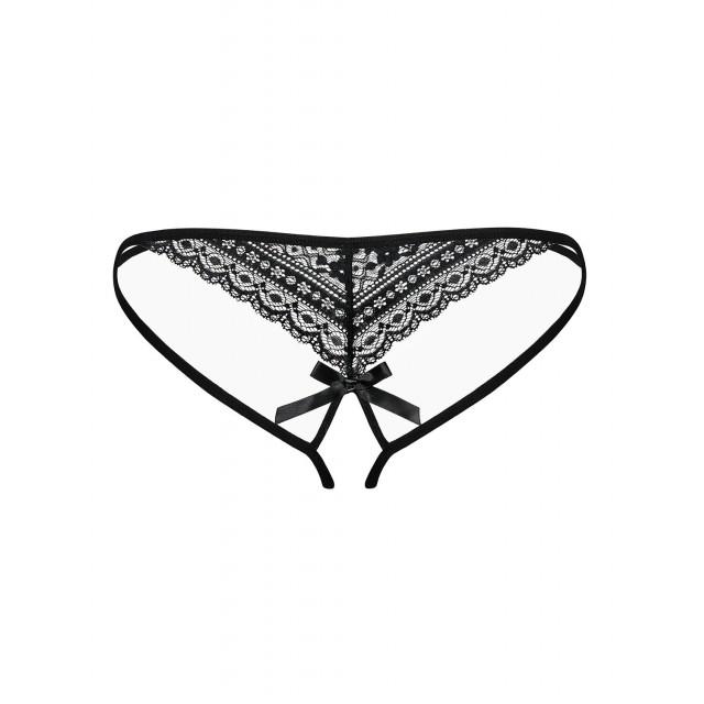 Трусики с доступом Obsessive Picantina Crotchless thong, Черные