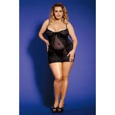 Комплект белья (платье, трусики) Dolce Piccante, Черный, M/L