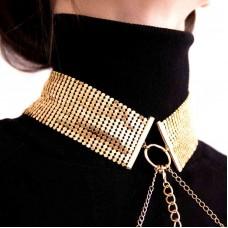 Украшение-ошейник Bijoux Indiscrets Desir Metallique, Золотое
