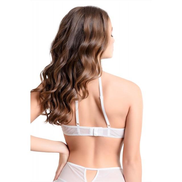 Соблазнительный бралетт Erolanta Karen с открытой грудью, Белый