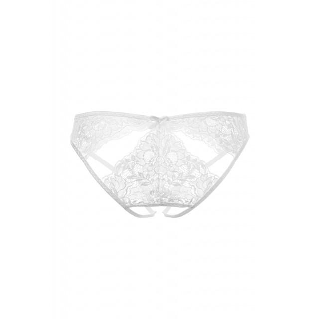 Кокетливые трусики Erolanta Lingerie Collection кружевные с ажурными вырезами, Белые