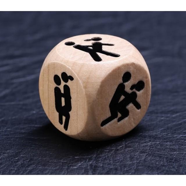 Кубик деревянный «Ночь любви. Позы», 1 штука