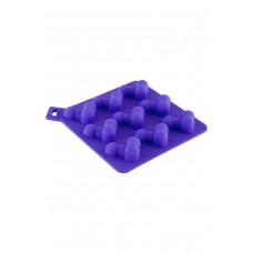 Сувенирная форма для льда TOYFA Black&Red, Силикон, Фиолетовый, 13 см