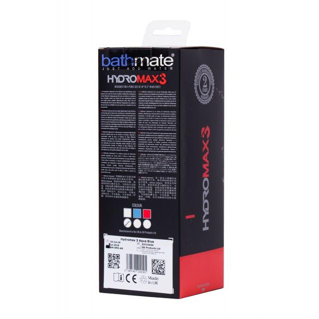 Гидропомпа для пениса Bathmate HYDROMAX3, Прозрачная
