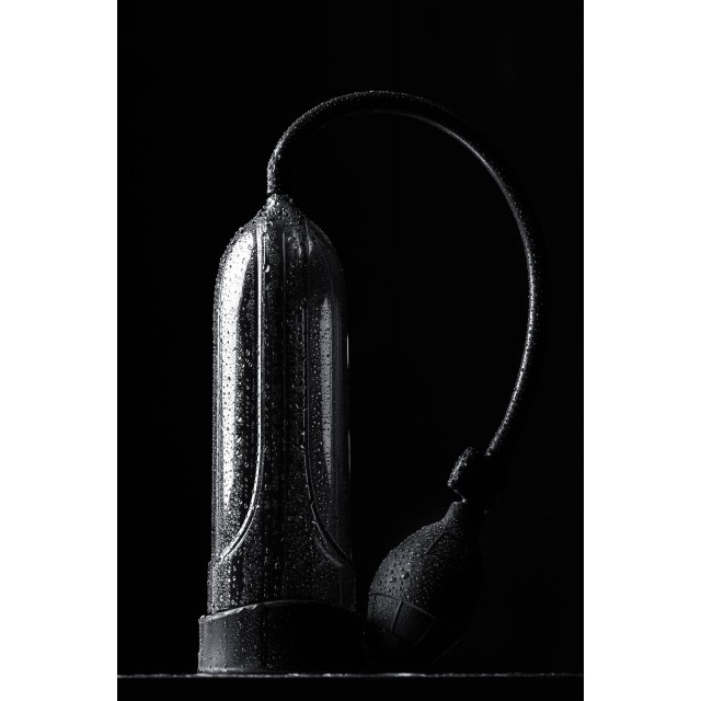 Помпа для пениса Sexus Men Training, Вакуумная, Механическая, ABS пластик, Чёрная