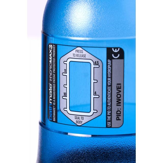 Гидропомпа для пениса Bathmate HYDROMAX3, Голубая