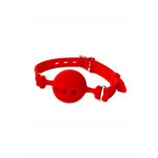 Кляп классический LoA hard, Силиконовый, Красный, Размер M