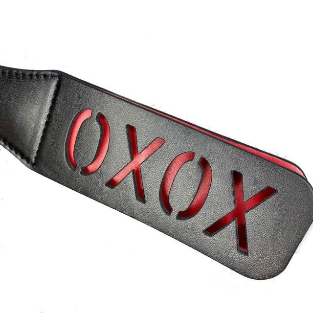 Шлепалка LoA hard, XoXo, PVC кожа, Чёрный, 32см