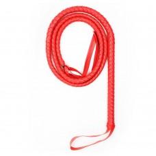 Кнут LoA hard, PVC кожа, Красный, 197см