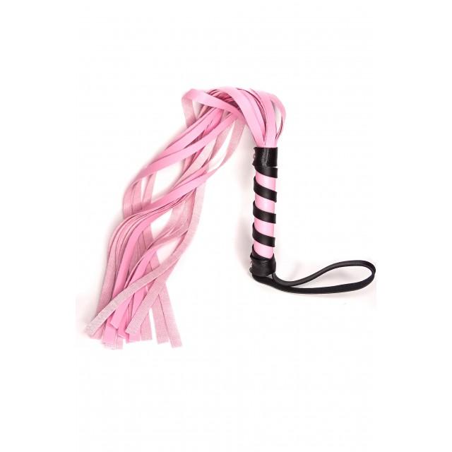 Плеть LoA hard, PVC кожа, Розовая, 45см