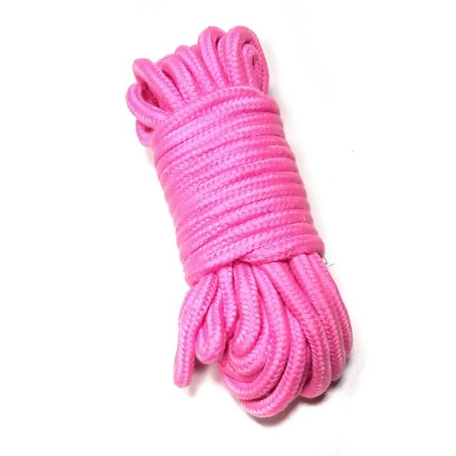 Веревка LoA hard, Хлопковая, Розовая, 10м