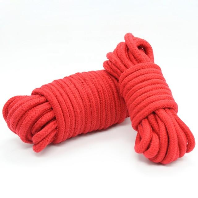 Веревка LoA hard, Хлопковая, Красная, 10м