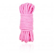 Веревка LoA hard, Хлопковая, Розовая, 5м