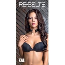 Ошейник с кольцом Rebelts Kali Black, Кожаный, Черный