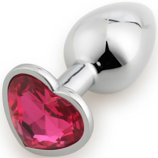 Анальная пробка Runyu Heart Shape Small, Металл, Серебристая, Ø2,8см
