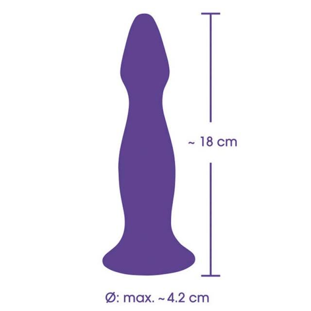 Анальный вибростимулятор Pure Lilac Vibes, Силиконовый, Фиолетовый, 18,0 см