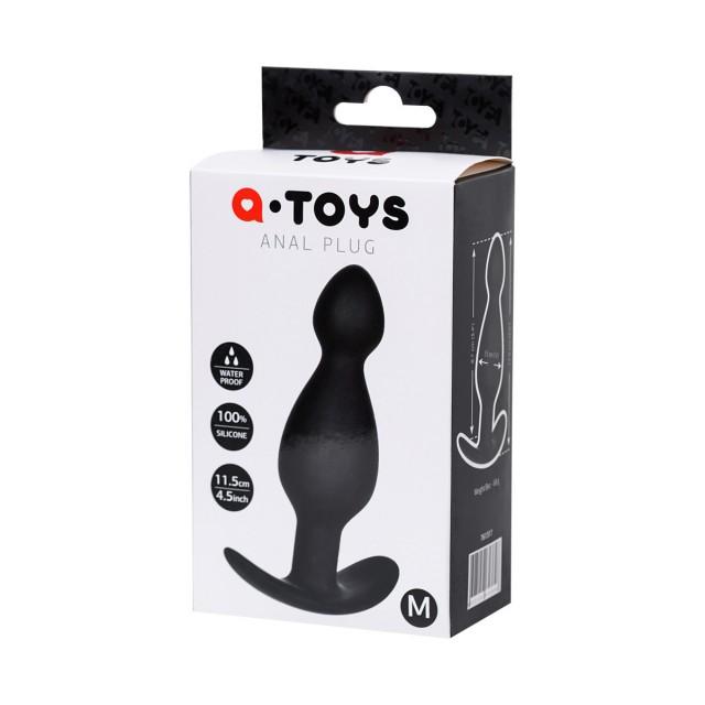 Анальная пробка TOYFA A-Toys Medium, Силиконовая, Чёрная, 11,5см