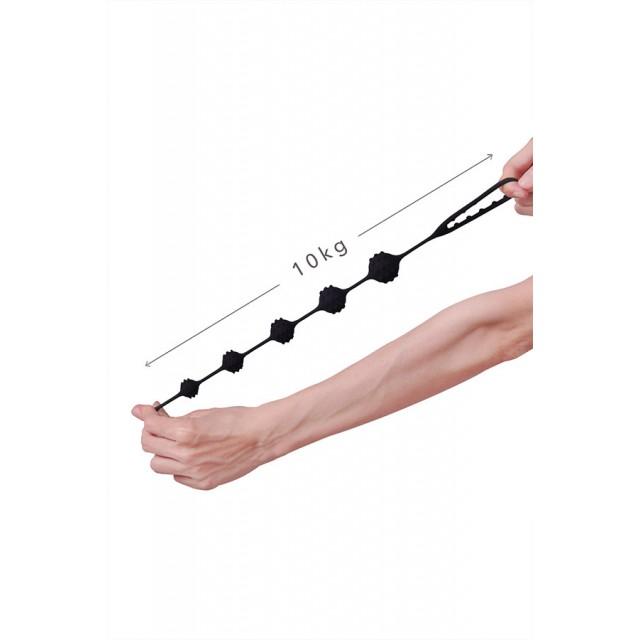 Анальная цепочка S-HANDE TOTO, Силиконовая, Чёрная, 22,6см