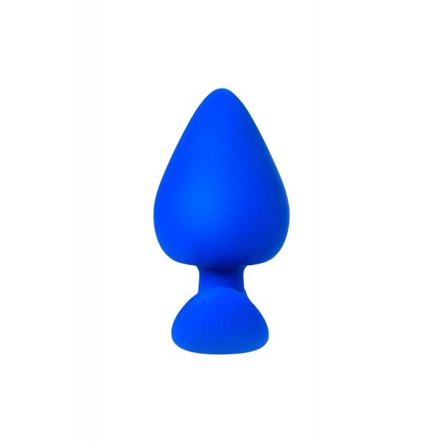 Анальная пробка A-Toys by TOYFA, Силиконовая, Синяя, 8,3см, Ø4,1см