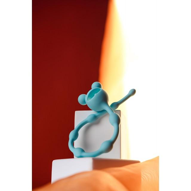 Анальная цепочка ToDo by Toyfa Froggy, Силиконовая, Мятная, 27,4см, Ø1,4см