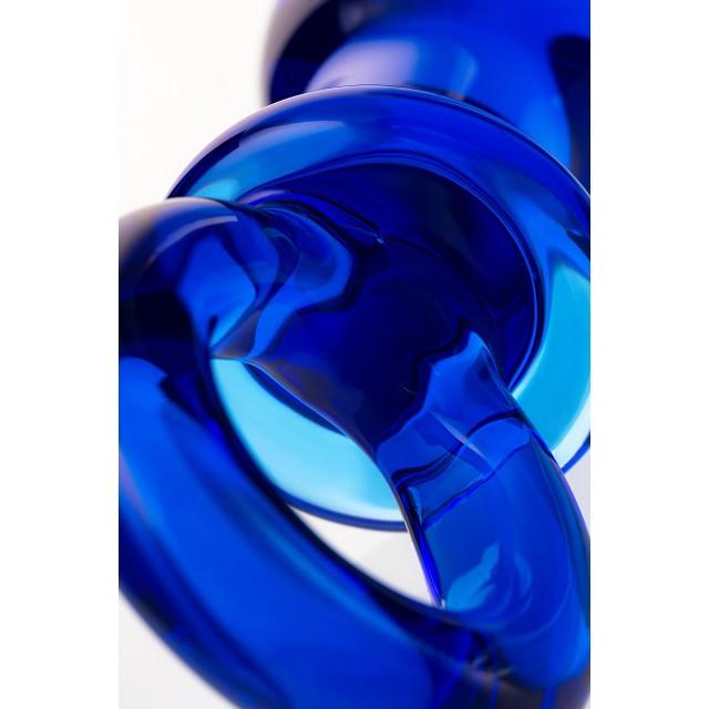 Анальная втулка Sexus Glass, Стекло, Синяя, 14см, Ø3,5см