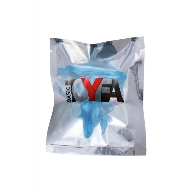 Анальная втулка TOYFA, ABS пластик, Голубая, 6,5см, Ø2,5см