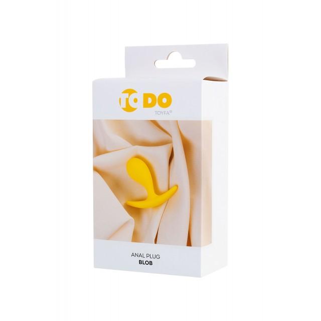 Анальная втулка ToDo by Toyfa Blob, Жёлтая, Ø2,1см