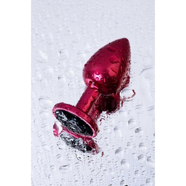Анальный страз, TOYFA Metal, Красный с кристаллом цвета турмалин, 7,2см, Ø2,8см