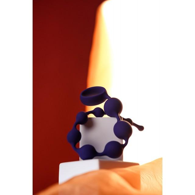 Анальная цепочка ToDo by Toyfa Grape, Фиолетовая, Ø2,7см