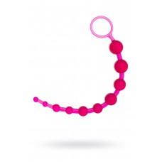 Анальная цепочка TOYFA, ПВХ, Розовая, 30см