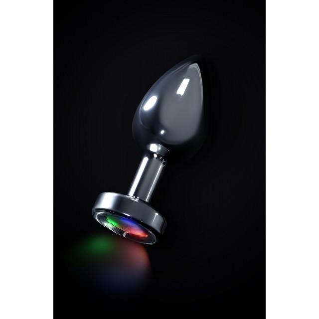 Анальная втулка TOYFA со светодиодами, Металлическая, Ø3,4см